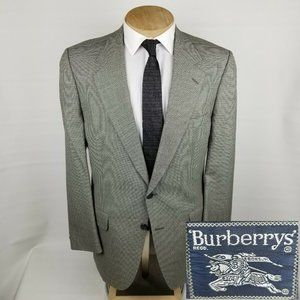 Burberry Mens Vintage Sport Coat 46L Houndstooth
